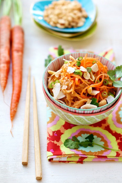 Gluten free, diet noodles with peanut sauce recipe