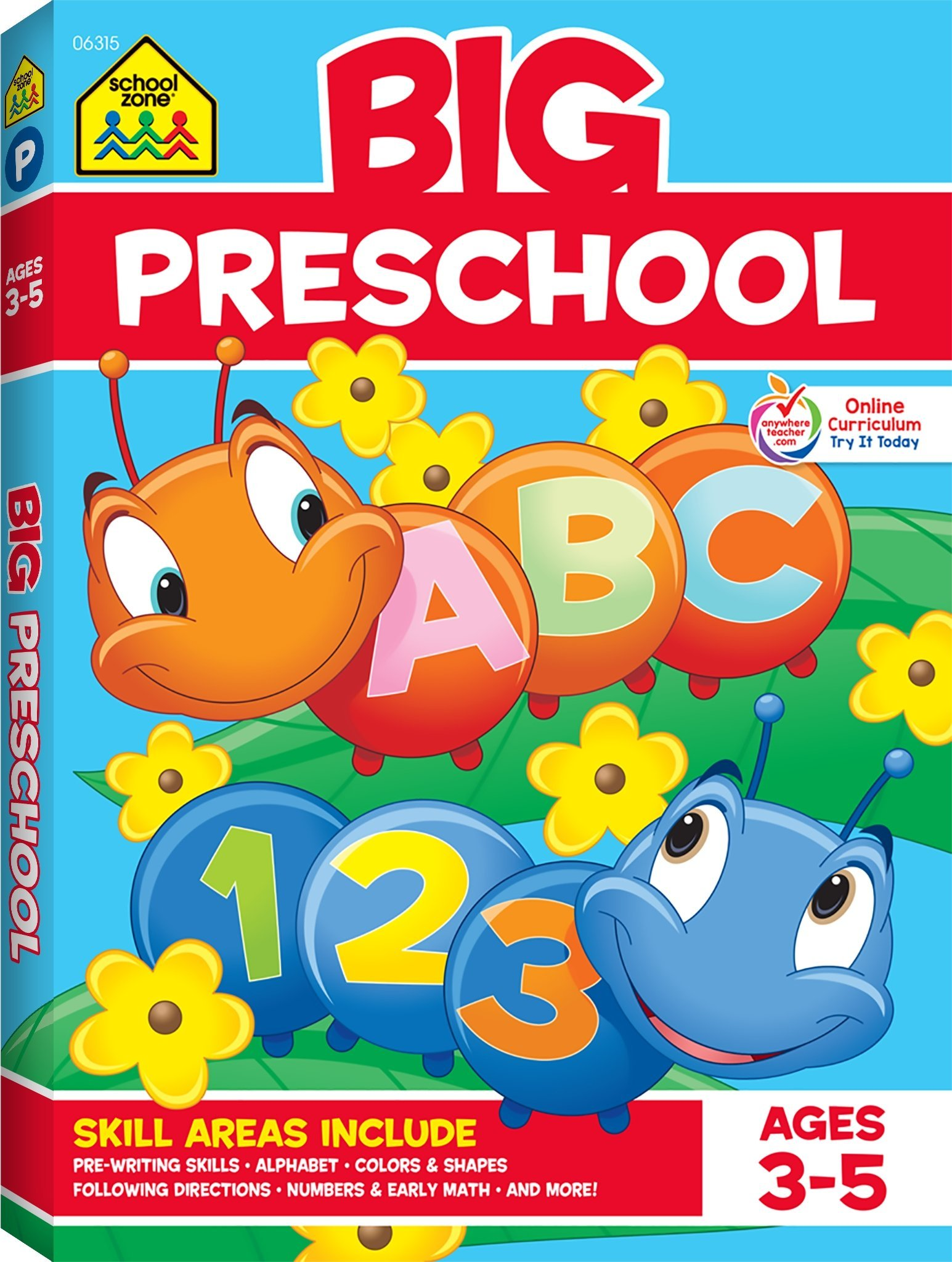 School Zone Big Preschool Workbook Ages 4 And Up Colors Shapes Numbers 1 10 Alphabet