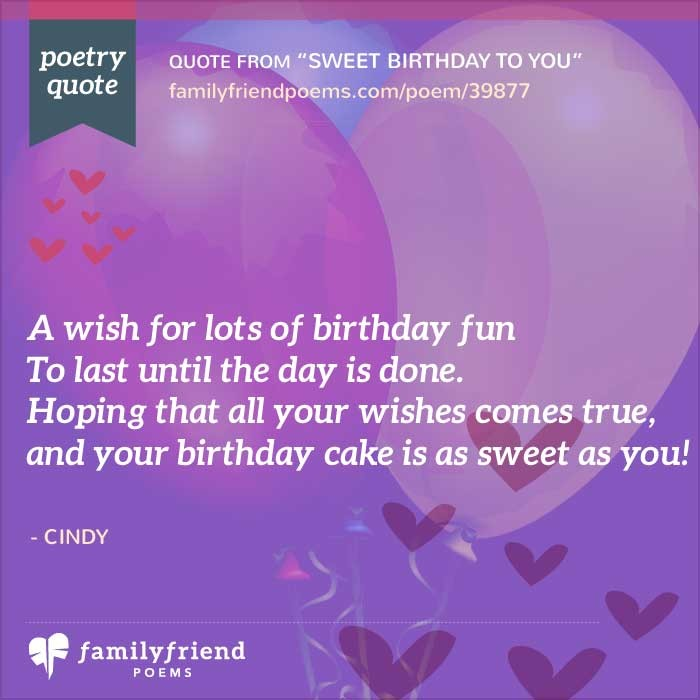 64 Birthday Poems Happy Birthday Poems And Wishes