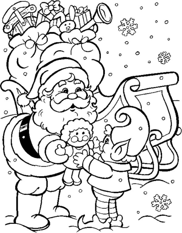 christmas coloring pages printable free # 6
