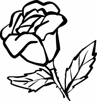 rose coloring pages with subtle shapes and forms can be colored