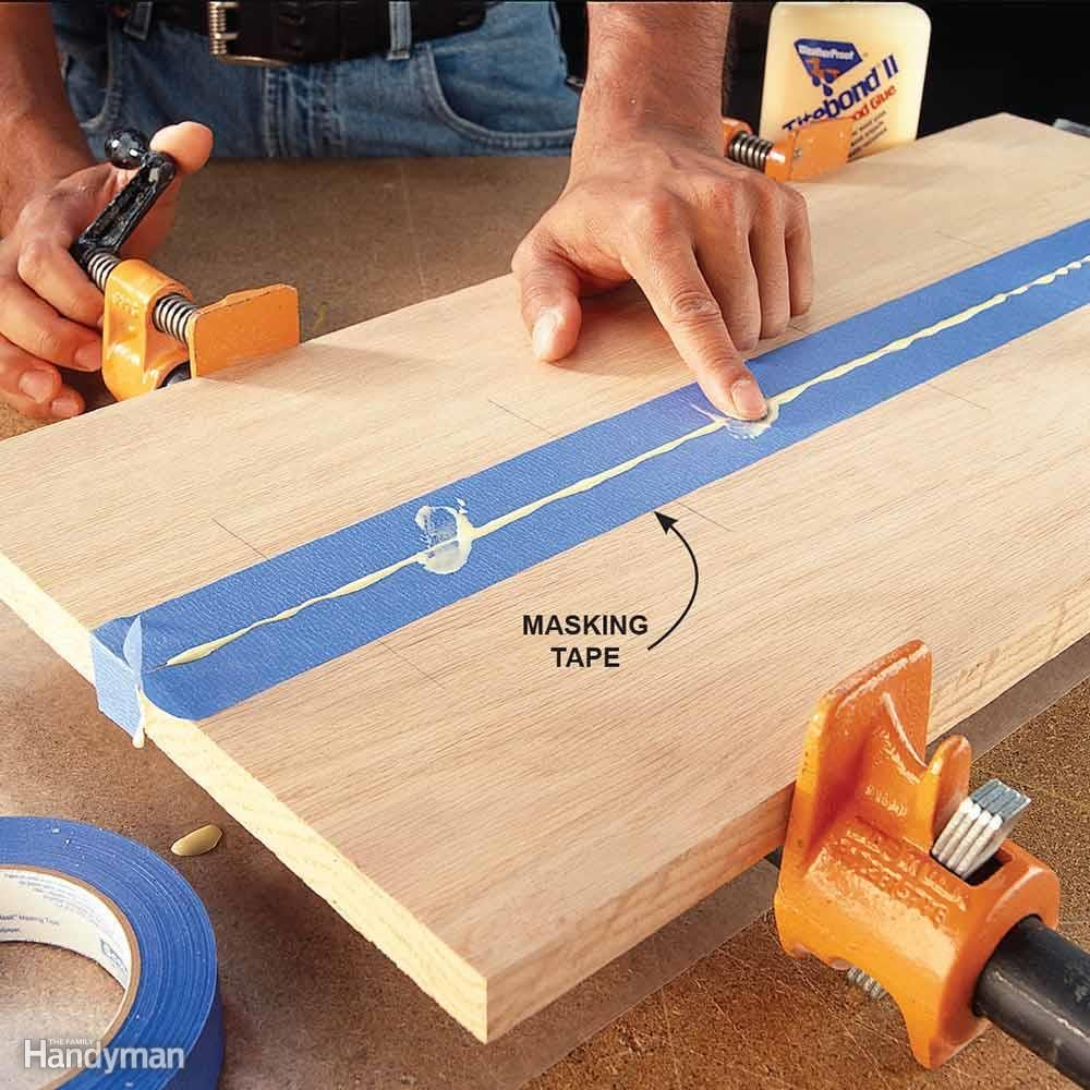 Apply Tape To Control Glue Squeeze Out