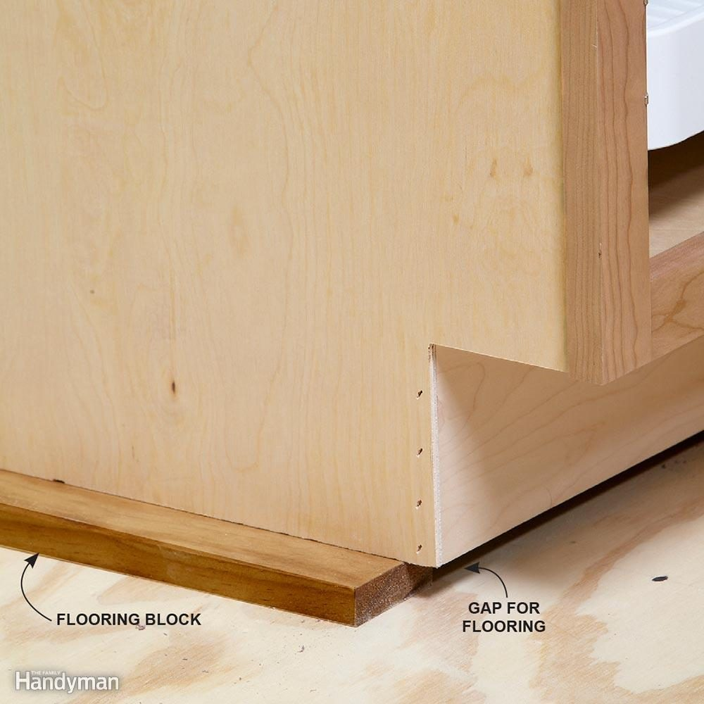 Best Kitchen Gallery: How To Install Cabi S Like A Pro The Family Handyman of How Long Does It Take To Install Kitchen Cabinets on cal-ite.com