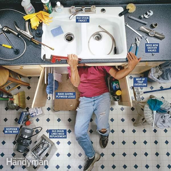 how to replace a kitchen faucet diy
