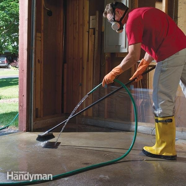 How To Remove Paint From Concrete And Other Stains The