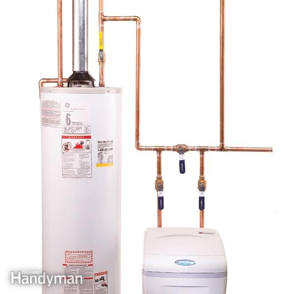 how to plumb a water softener diy