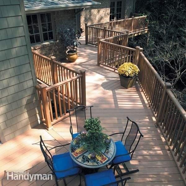 No Maintenance Deck Rails The Family Handyman | Vinyl Railings For Outside Steps | Balusters | Composite | Wood | Precast Concrete Steps | Railing Installation