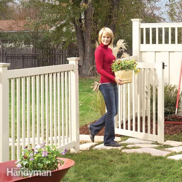 Installing A Vinyl Fence The Family Handyman