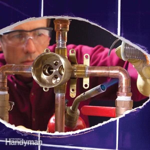 shower faucet installation diy