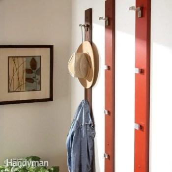 simple coat rack and hat rack diy