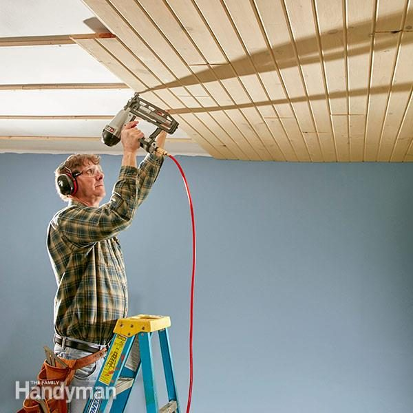 Wood Plank Ceiling How To Install A Tongue And Groove
