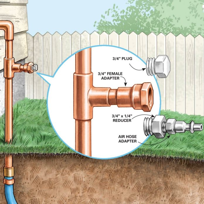 how to install an outdoor faucet diy