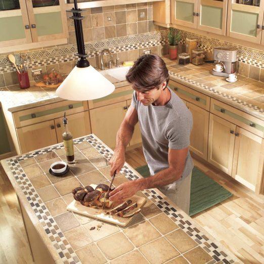 ceramic tile kitchen countertops diy