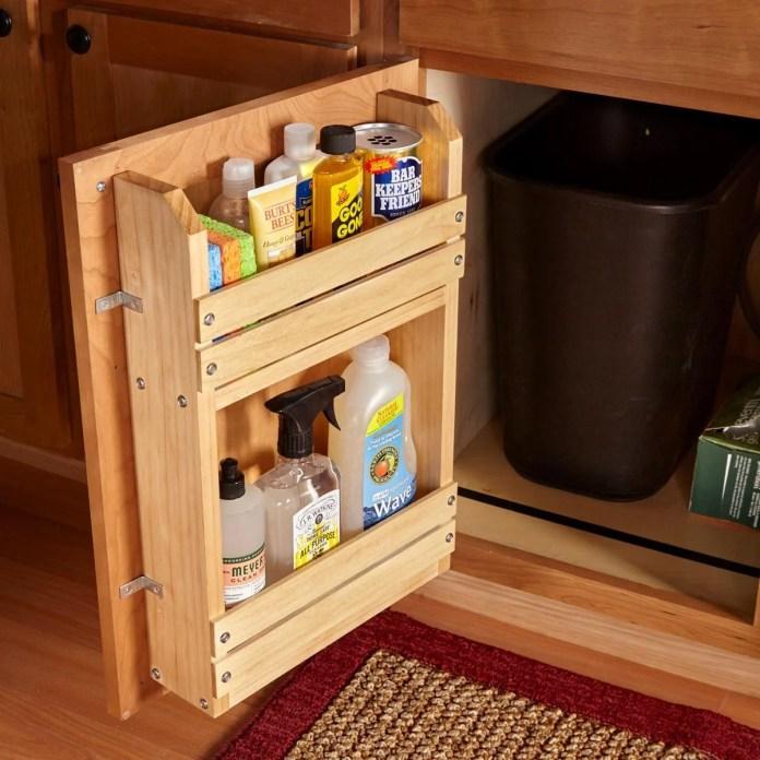 inside cabinet door storage ideas