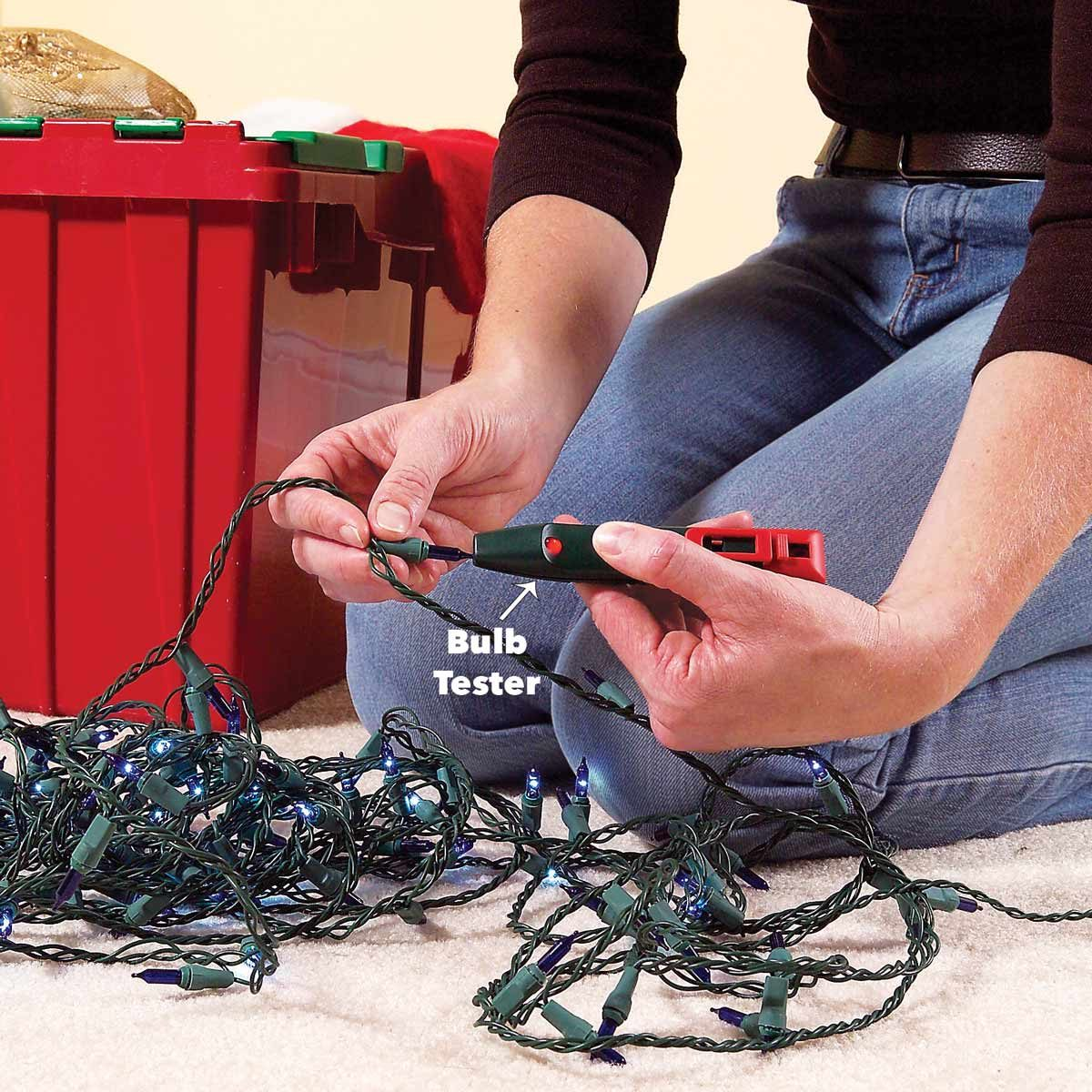 Fix Christmas Tree Lights Half String Out