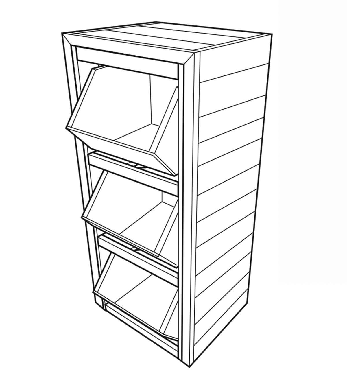 Build A Produce Storage Unit With Crates