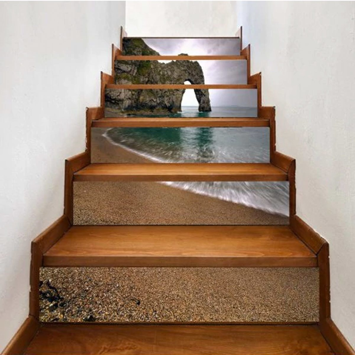 12 Inspired Ways To Embellish Stair Risers Family Handyman | Hardwood Steps And Risers | Gray Painted | Cherry Wood | Hardwood Floor | Timber | White