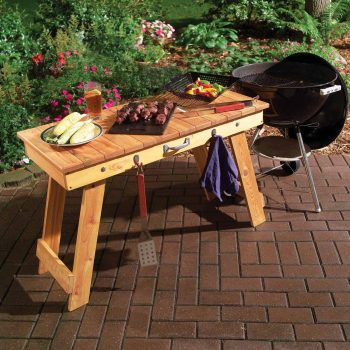 transportable fold up grill table diy