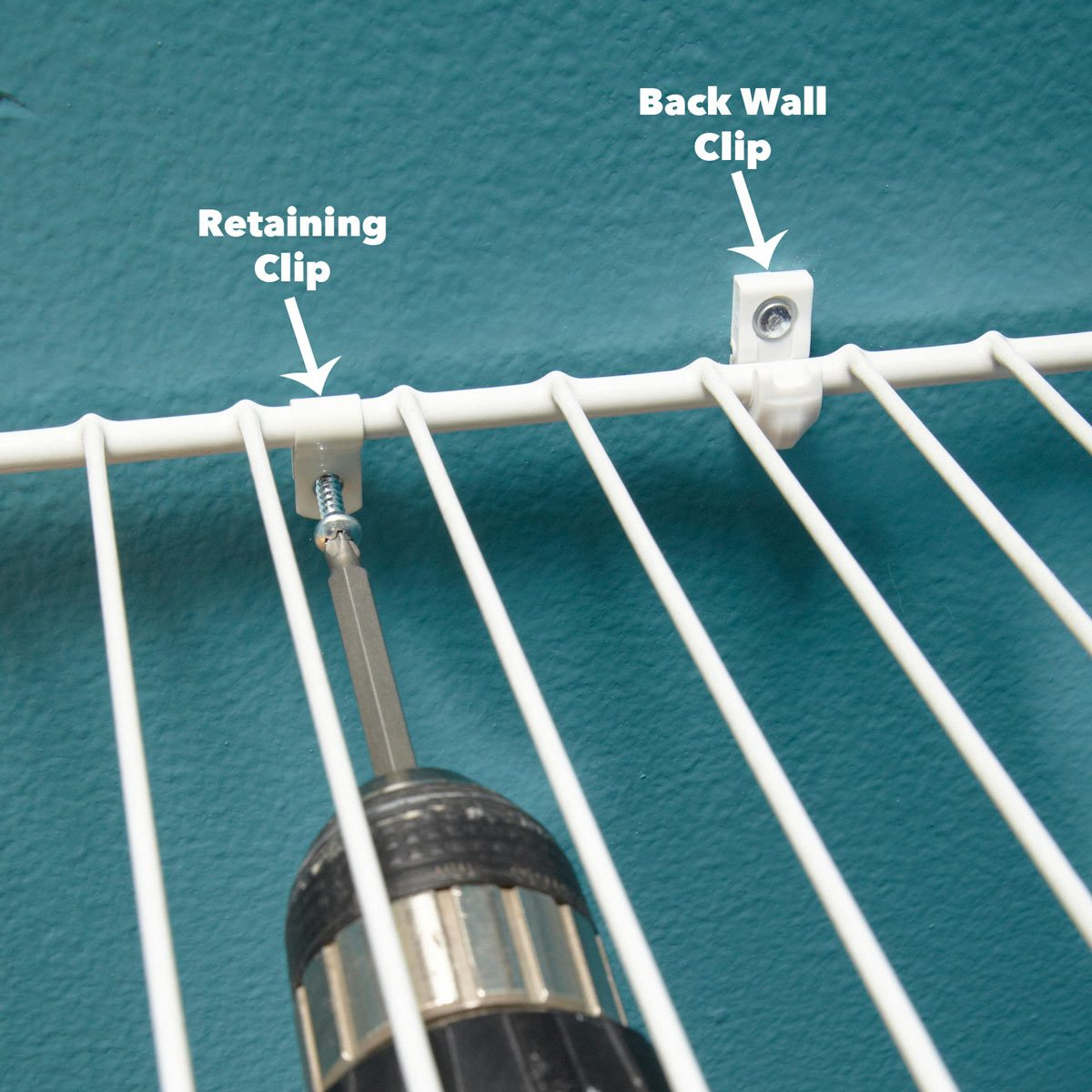 How To Install Wire Shelving For A Wire Closet System