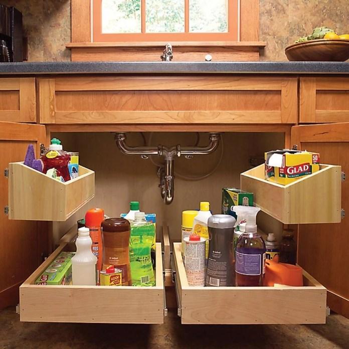 kitchen cabinet storage solutions diy