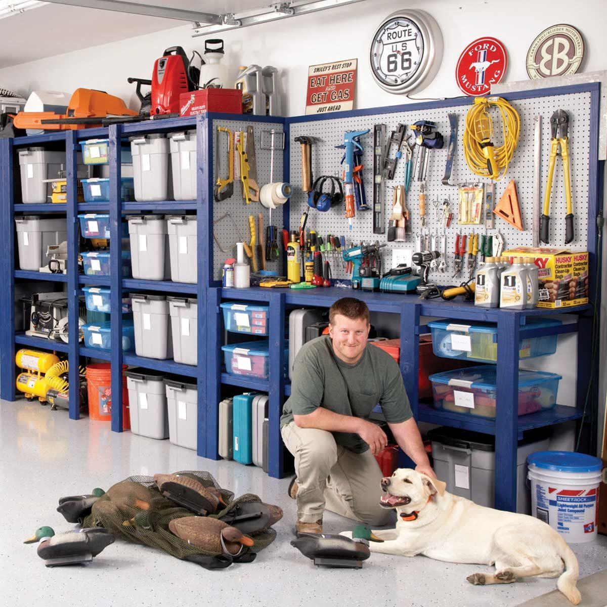 building a garage storage wall diy