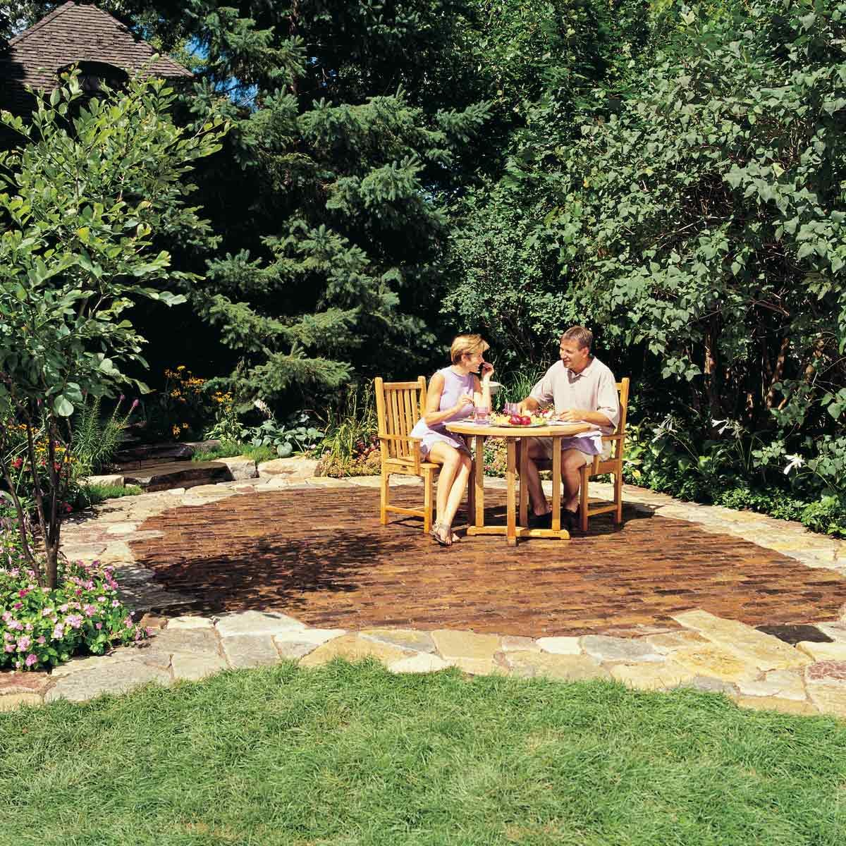 how to build a stone and brick patio