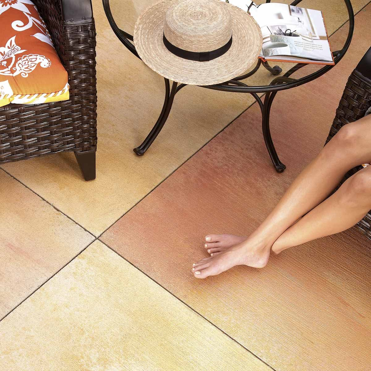 concrete patio how to stain concrete