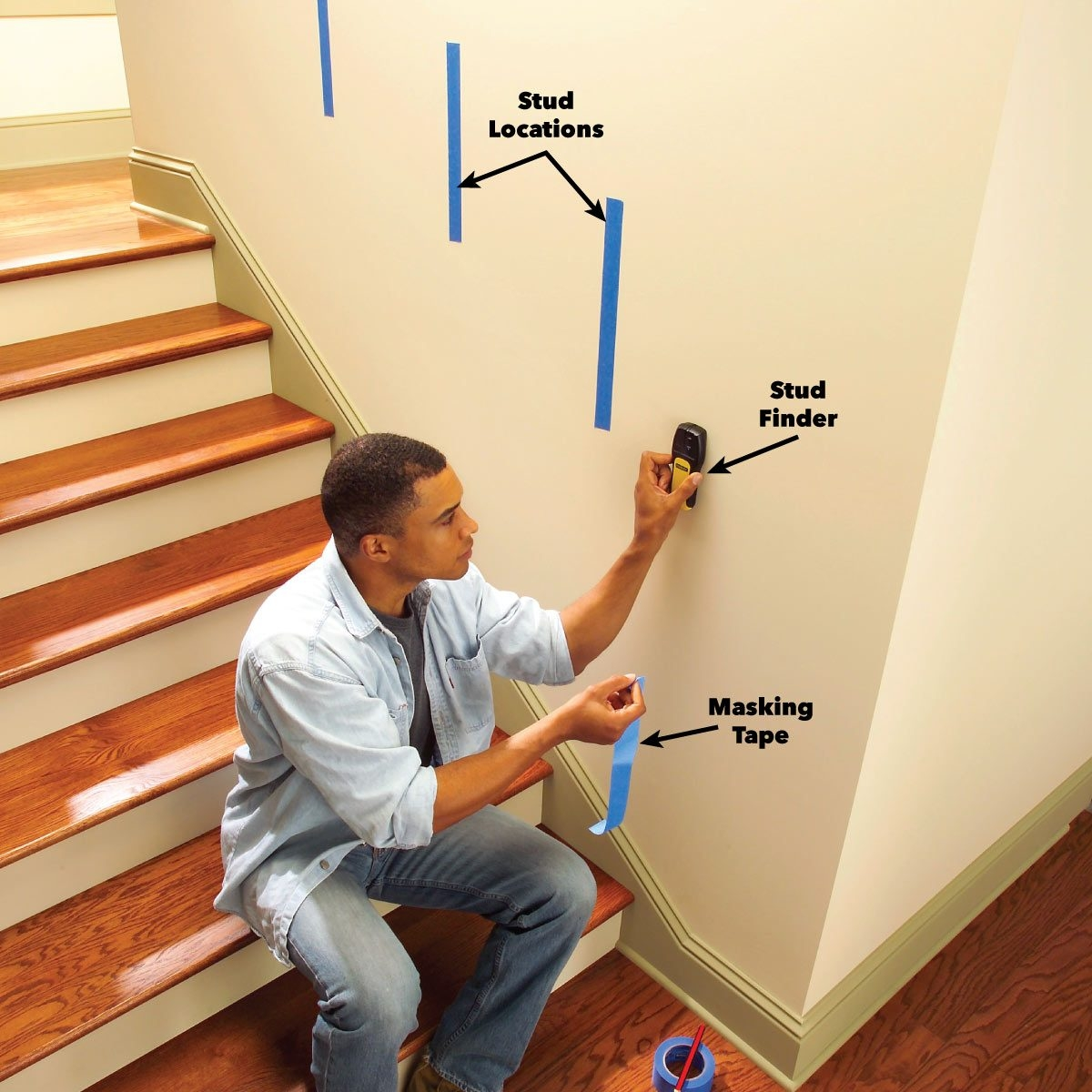 Install A New Stair Handrail | New Handrail For Stairs | Replacement | Split Level Foyer | Enclosed Staircase | Inside | Split Entry