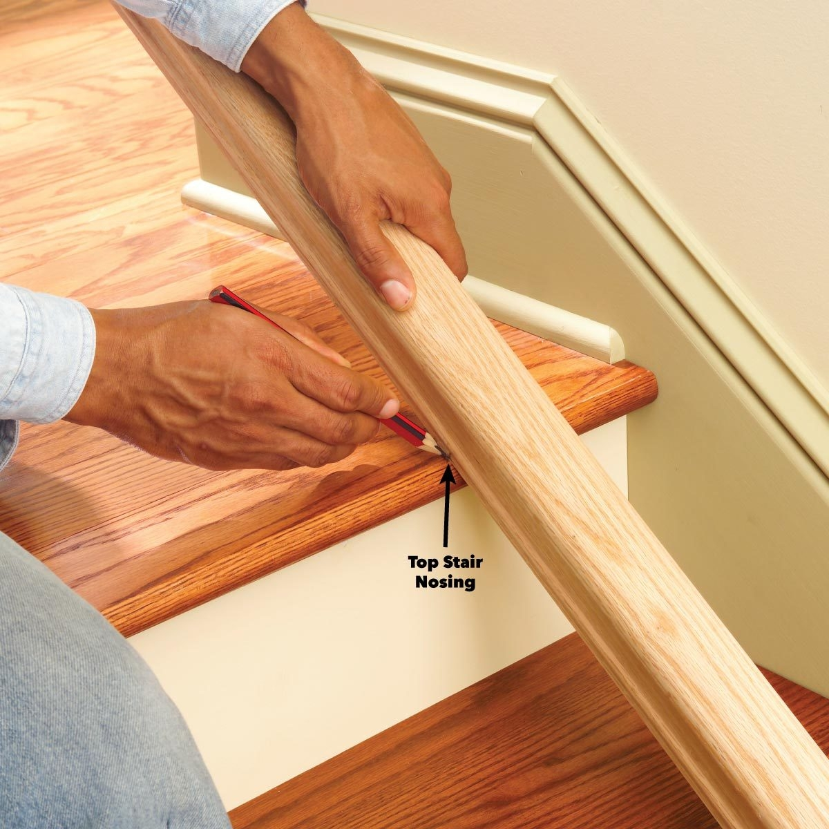 Install A New Stair Handrail   Stair Banisters And Railings   Baby Proof   Rustic   Split Level   Pinterest   Landing
