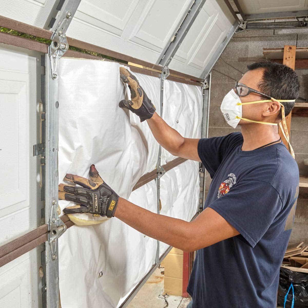 Exactly How To Insulate A Garage Door The Family Handyman