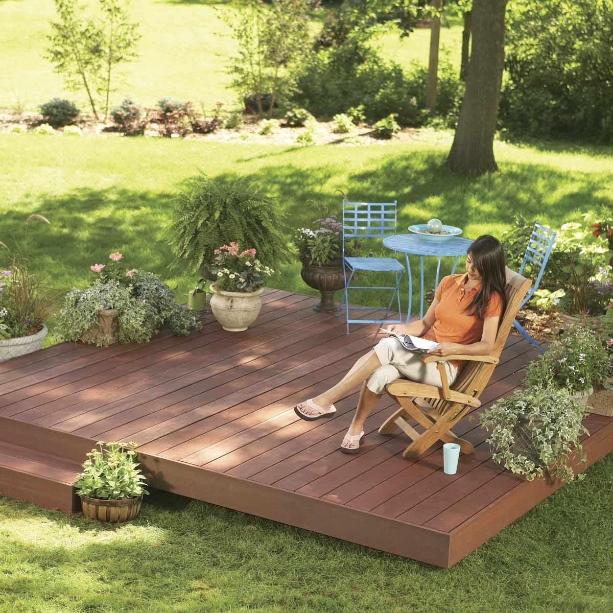 backyard decks build an island deck