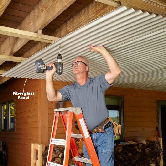 under deck roof diy family handyman