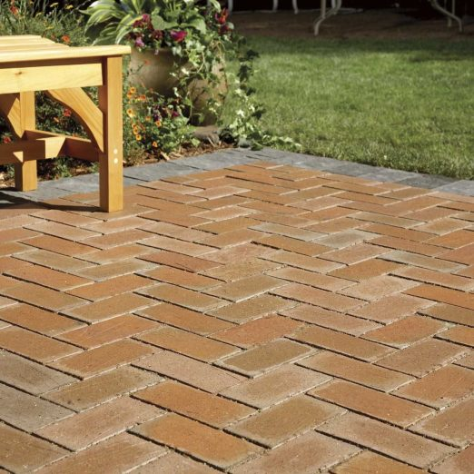 cover a concrete patio with pavers