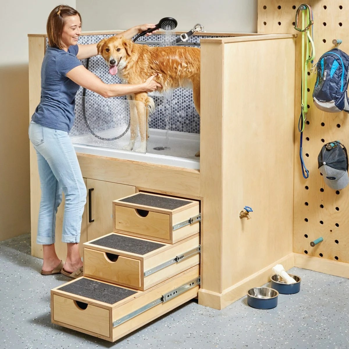 how to build a dog washing station diy