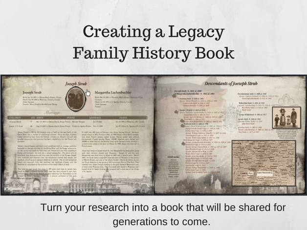 Creating a legacy family history book premium package for Ancestry book templates