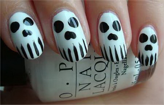 Celebrate Day Of The Dead Dia De Los Muertos Nail Art Style Nails