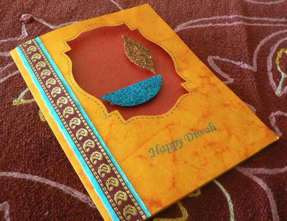 Image result for handmade diwali cards