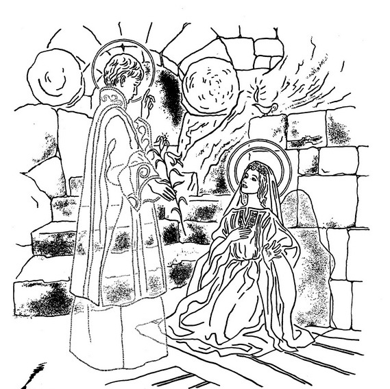 Immaculate Conception Coloring Pages Family