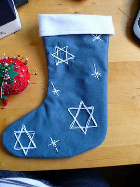 Mixed Blessing Hanukkah Holiday Christmas Stocking