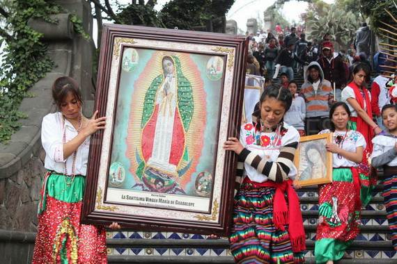 Feast Day Of The Virgin Of Guadalupe Mexico City Family