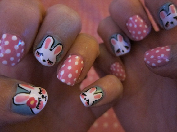 Cute Easy Easter Bunny Nail Ideas Family Guide To Family Holidays On The Internet