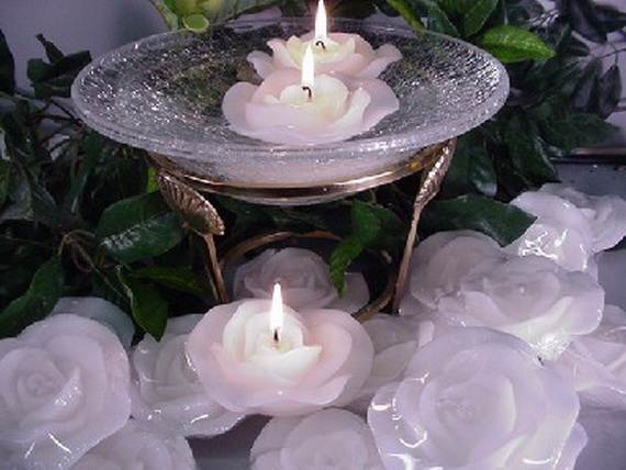 Floating Flowers And Candles Centerpieces Family Holiday