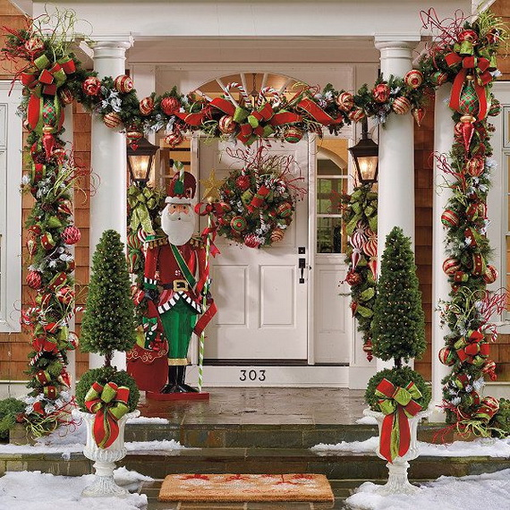 50 fresh festive christmas entryway decorating ideas family