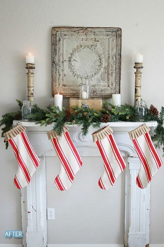Adorable Christmas Mantel Decorating Ideas For The Upcoming Holiday Gorgeous Fireplace With