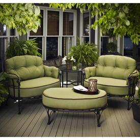 Wrought Iron Patio Furniture   Patio Furniture   Family Leisure Athens Deep Seating by Meadowcraft