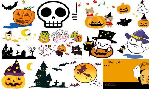 ハロウィンのかわいいイラスト. halloween,4,3212,1