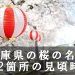 兵庫県の夙川公園など桜名所122箇所の見頃時期