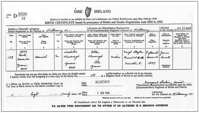 Information On Irish Birth Marriage And Death Certificates