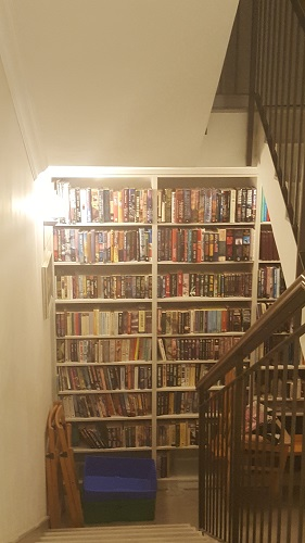 Library on the stairs.