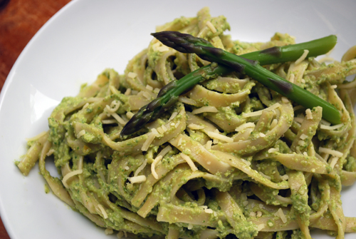 Asparagus Pesto with Lemon and Mint by FamilySpice.com